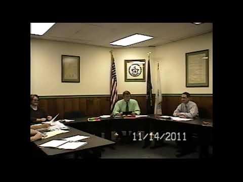 Champlain Village Board Meeting 11-14-11