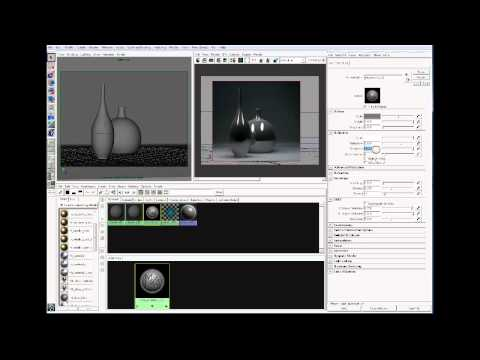 Create a brushed metal material in Maya