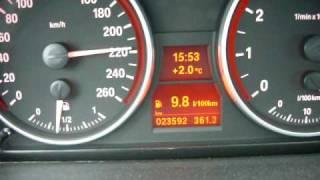 Разгон BMW 325i E90 с двигателем N52B25 до 250 км/ч