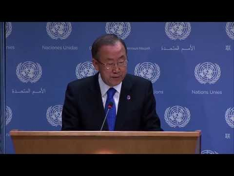 WorldLeadersTV: IF CHEMICAL WEAPONS WERE USED in SYRIA: UN SECURITY COUNCIL MUST ACT: BAN KI-MOON
