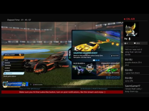 rocket league - trading - gameplay  - giveaway @ 50