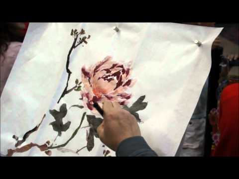 The Good Fortune Peony - a Chinese Painting Demo by Henry Li