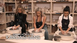 KUWTK | Kim, Khloé & Kourtney Kardashian Bond Creating Pottery | E!