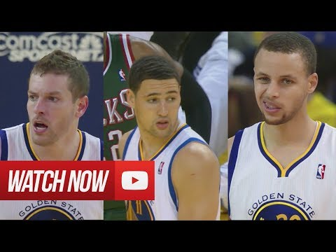 2014.03.20 - Stephen Curry, David Lee & Klay Thompson Full Combined Highlights vs Bucks