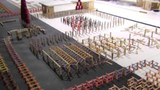1,000,000 Dominoes   The Incredible Science Machine Vidom