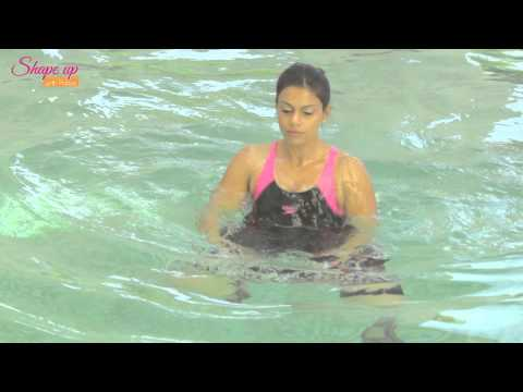 2 minute tutorial - water aerobics workout - aqua aerobics for weight loss - warm up exercises