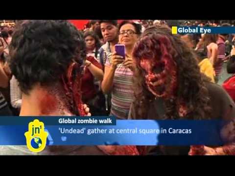 Zombie Walk takes place in Venezuela: fancy dress fun ahead of annual Halloween holiday