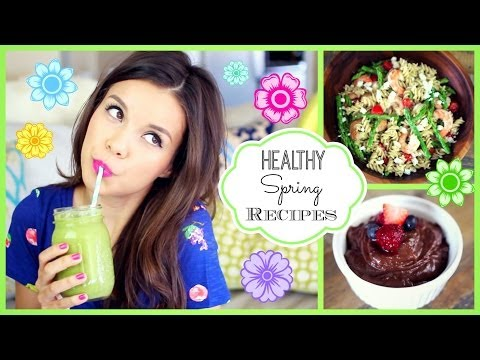 Easy & Healthy Spring Recipes! ♥ #HungryHealthyHappy