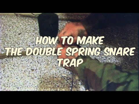 how to make the double spring snare trap