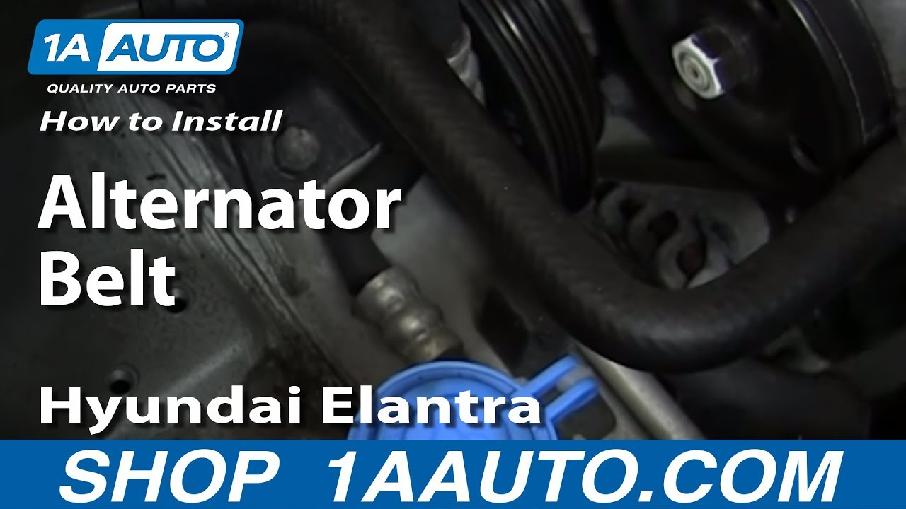 diagram of 2006 kia spectra transmission wiring how to install replace alternator belt 1999 06 hyundai  how to install replace alternator belt 1999 06 hyundai