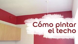 Cómo pintar el techo de una habitación