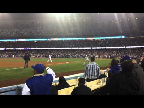 Final out of Clayton Kershaw no-hitter