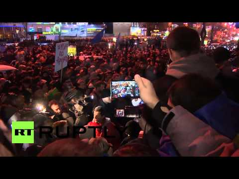 Ukraine: Clashes break at pro-EU rally in Kiev