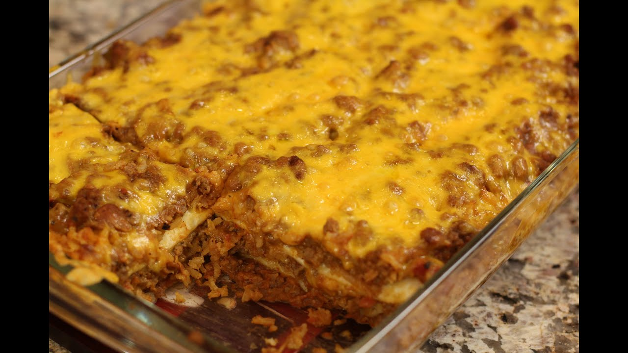 Burrito Pie - Delicious Mexican Casserole by Rockin Robin - YouTube