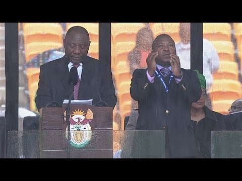 Mandela memorial: Sign language interpreter branded a 'fake' by deaf community in South Africa