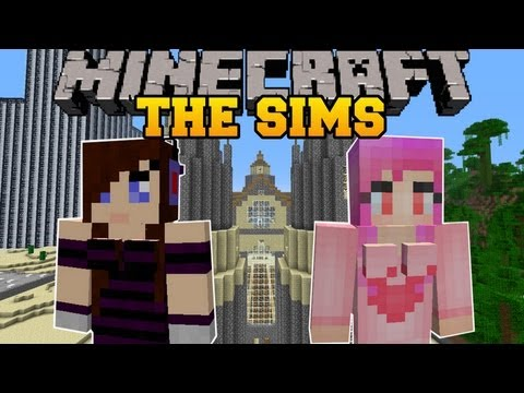 Minecraft : THE SIMS (BUILD ANYTHING, RELATIONSHIPS, STRUCTURES) Sim-U-Kraft Mod Showcase