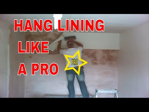 How To Hang Lining Paper Fast Youtube