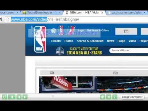 How to Find Video Stream URL from NBA.com with ESFSoft URL Sniffer