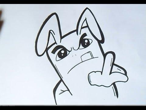 como desenhar um coelho Grafite   Wizard art - by Wörld