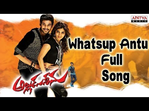 Alludu Seenu Movie || Whatsup Antu Full Song || Sai Srinivas,Samantha