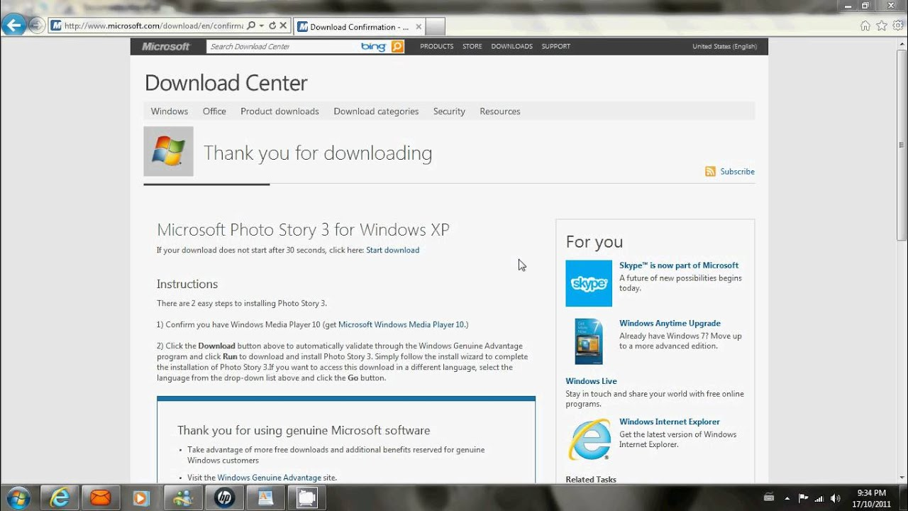 photostory 3 windows 7