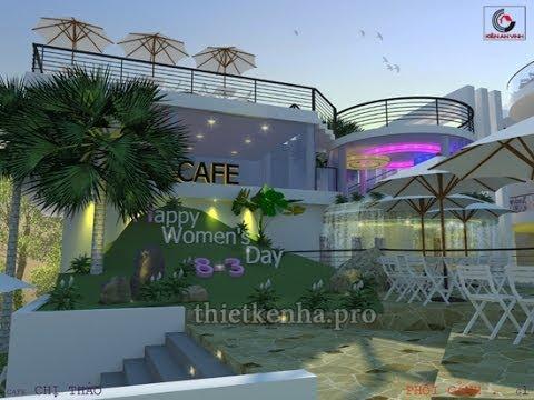 Thiết kế quán cafe sân vườn đẹp - Kiến An Vinh