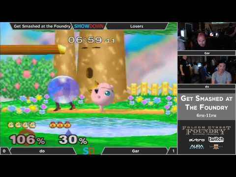 Get Smashed at the Foundry #4 - Losers - do (Fox) vs gaR (Sheik)