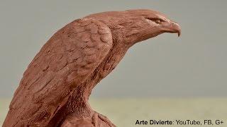 Esculpir un águila en plastilina
