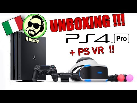 UNBOXING - PLAYSTATION PRO, PS VR E GT SPORT!!