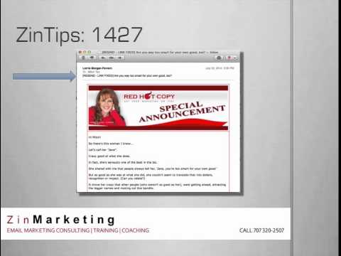 ZinTips 1427 how to fix an email marketing mistake