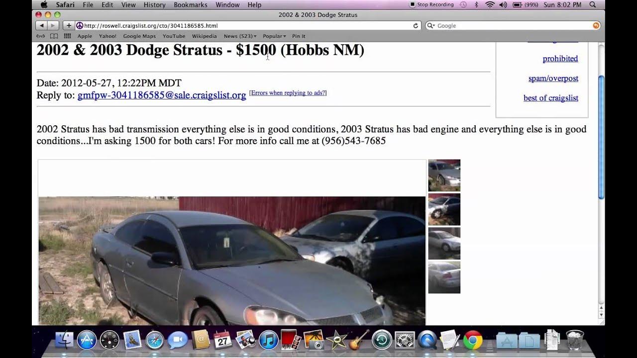 Craigslist Carlsbad NM - Used Cars and Trucks Under $2500 ...