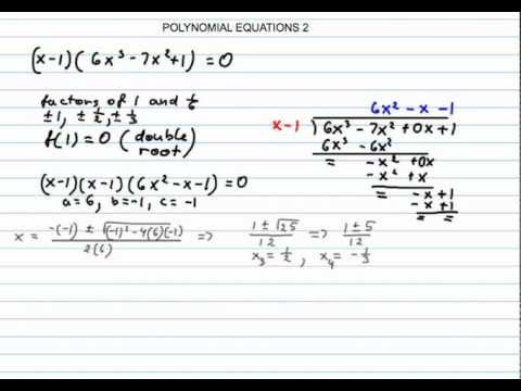 how to solve polynomial equations in matlab