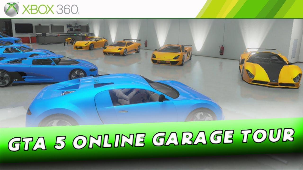 Grand theft auto 5 online 10 car garage showcase for Garajes gta v online
