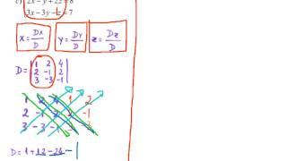 Matemática Regra De Cramer (Sistemas Lineares) Lista