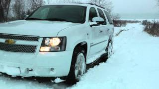 Chevrolet Tahoe snow ride videos