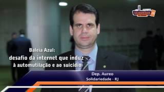Deputado Aureo apresenta projeto contra o jogo da Baleia Azul