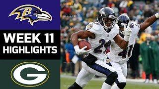 Ravens vs. Packers | NFL Week 11 Game Highlights