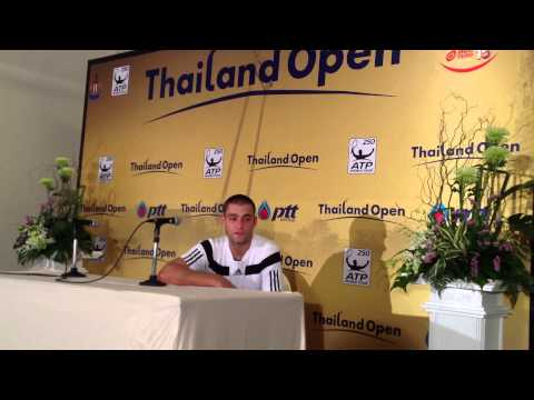 Mikhail Youzhny of Russia after 1st round in Thailand Open