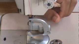 Manuseio Da Máquina Industrial Adaptada Para Quilting