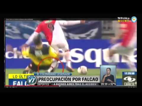 Visión 7: Preocupación por Falcao, lesionado cuando jugaba para el Mónaco