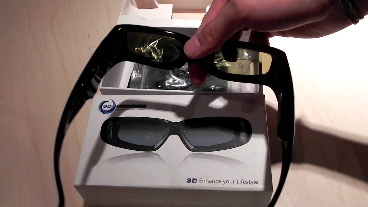 Universal 3d Active Shutter Glasses Youtube