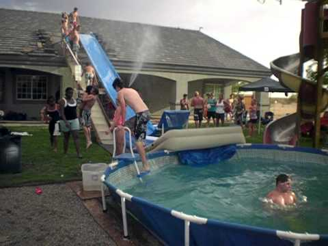 Greatest redneck water slide youtube - How to build a swimming pool slide ...