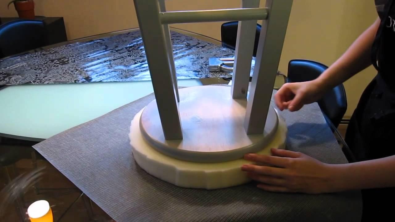 Diy Craft Diy Bar Stool Upholstery Youtube