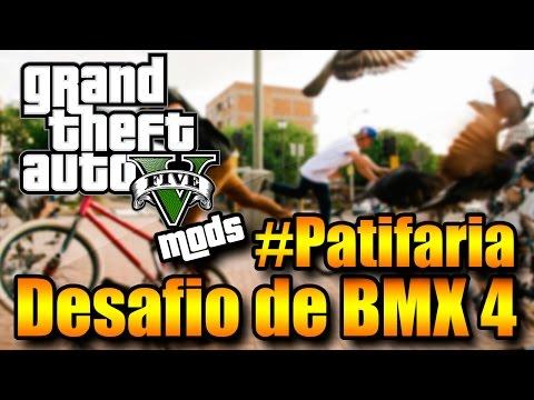 GTA V ONLINE COM MODS: Desafio da BMX! Competição FRENÉTICA e a #PATIFARIA OWNANDO!
