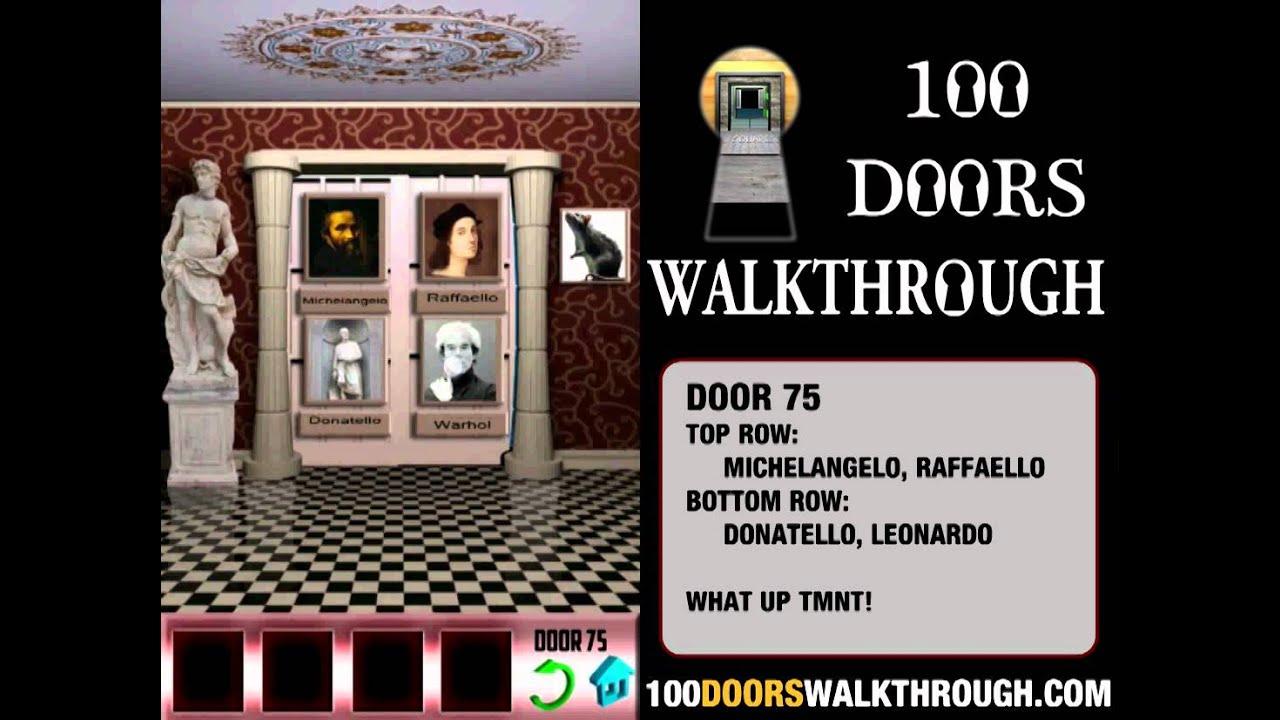 100 doors 75 100 doors level 75 android walkthrough for 100 door cheats