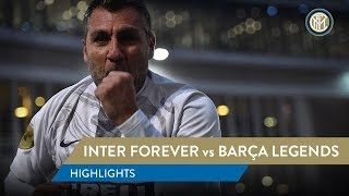 INTER FOREVER vs BARÇA LEGENDS   HIGHLIGHTS   Bobo Vieri scores twice!