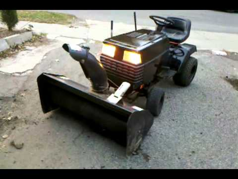 Craftsman lawn tractor with snowblower attachment running youtube for Craftsman garden tractor attachments