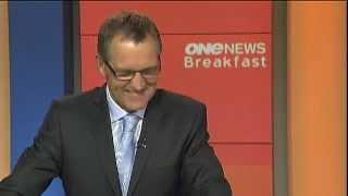 Newsman Laughs at Diplomat's name