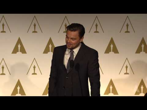 Leonardo DiCaprio at the 86th Oscars® Nominees Luncheon