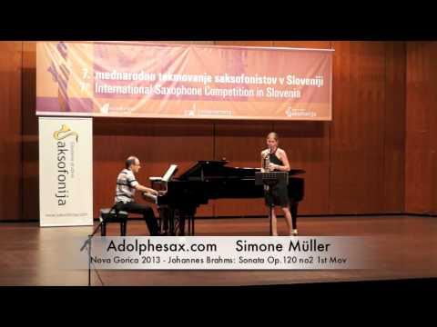 Simone Müller – Nova Gorica 2013 – Johannes Brahms: Sonata Op 120 no2 1st Mov